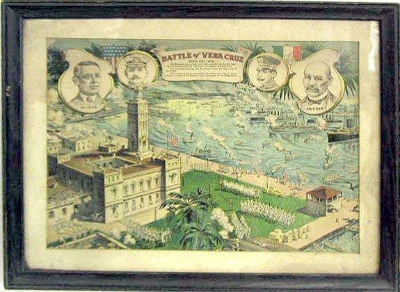 "2018: ""The Battle of Vera Cruz(1914)"" lithograph"