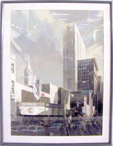 2022: Merrick [?] Gouache, Market St. Phila., c.1960