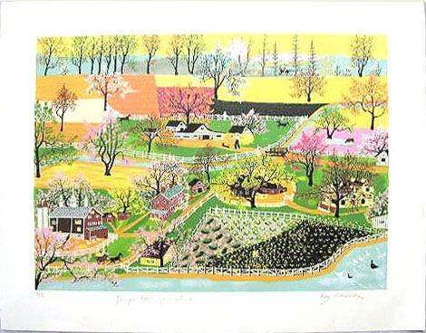 "2024: Kay Ameche litho, ""Younger Than Springtime"""