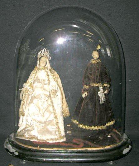 "2056: Victorian ""Holy Family"" wax doll"