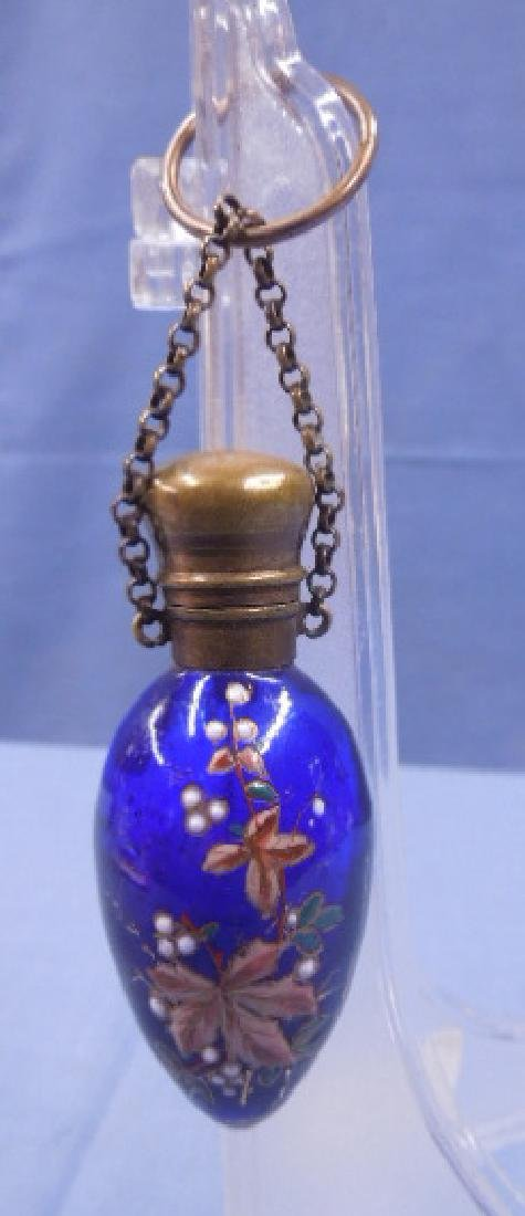 Victorian Glass Chatelaine Scent Bottle