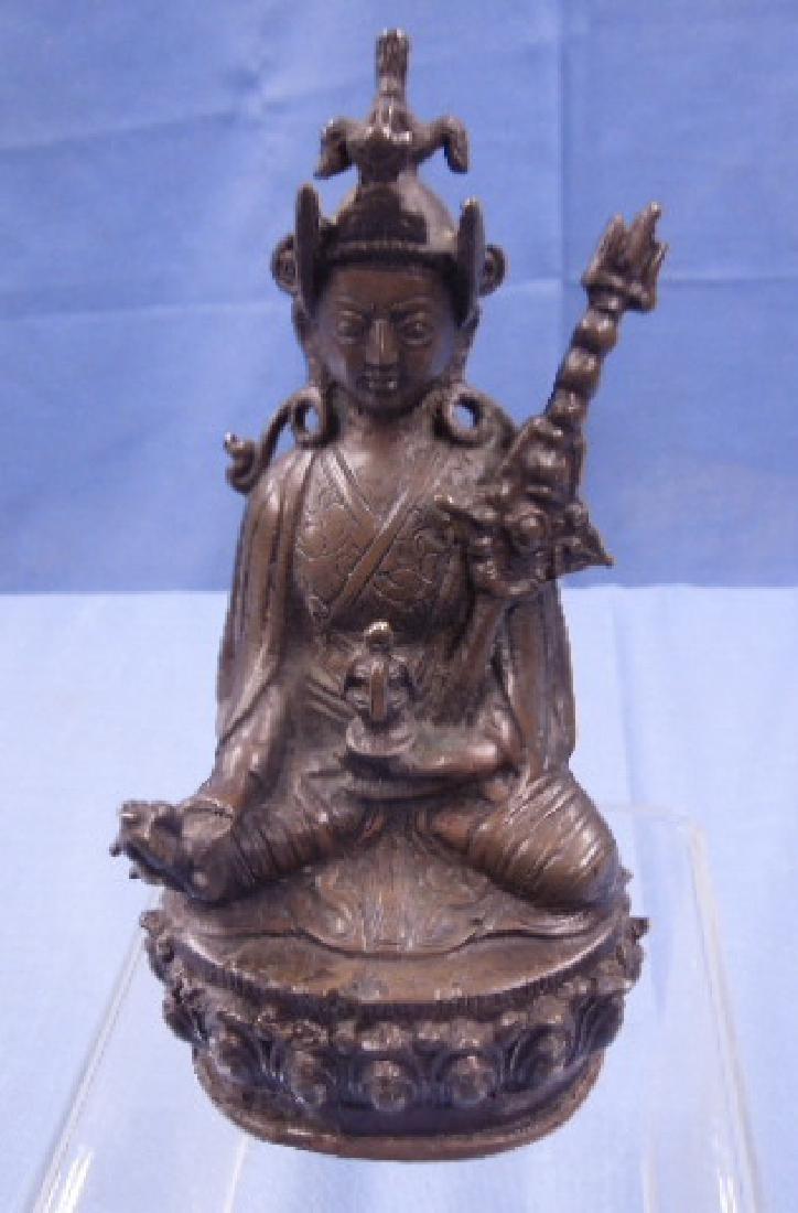 Sino-Tibetan Bronze Deity Figure