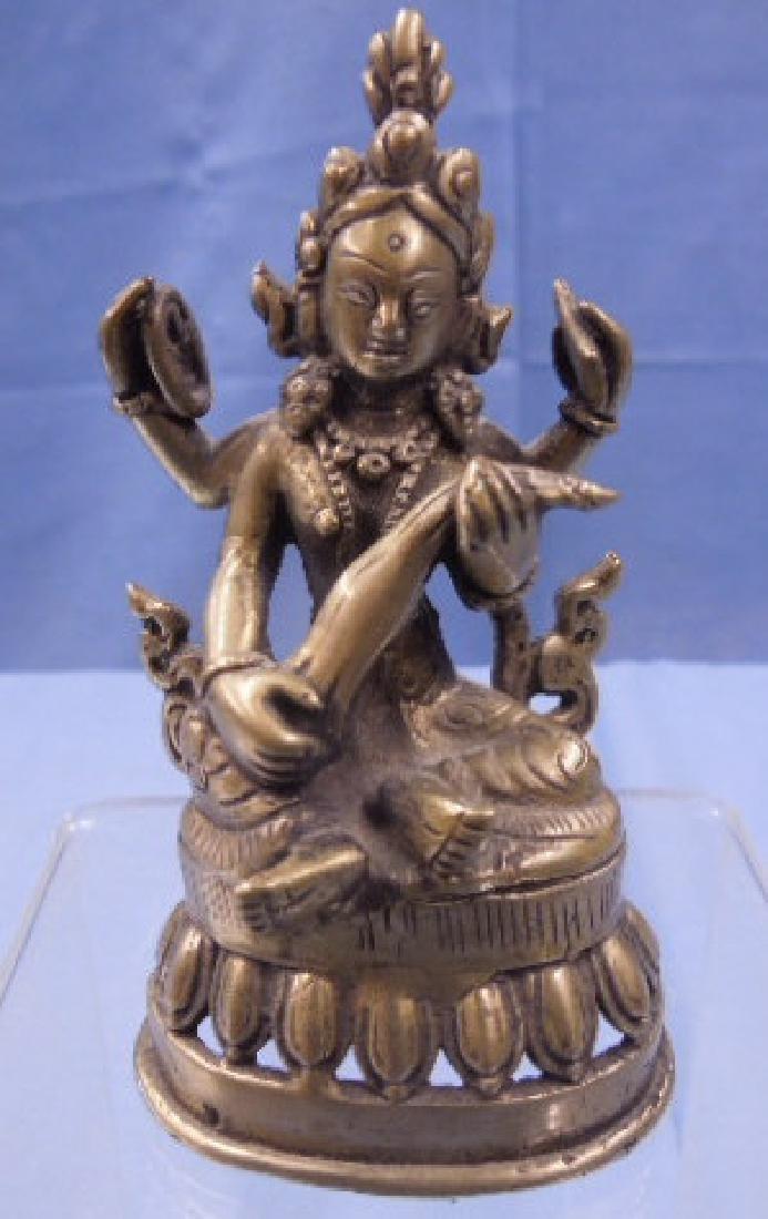 Sino-Tibetan Bronze Mahakala Figure