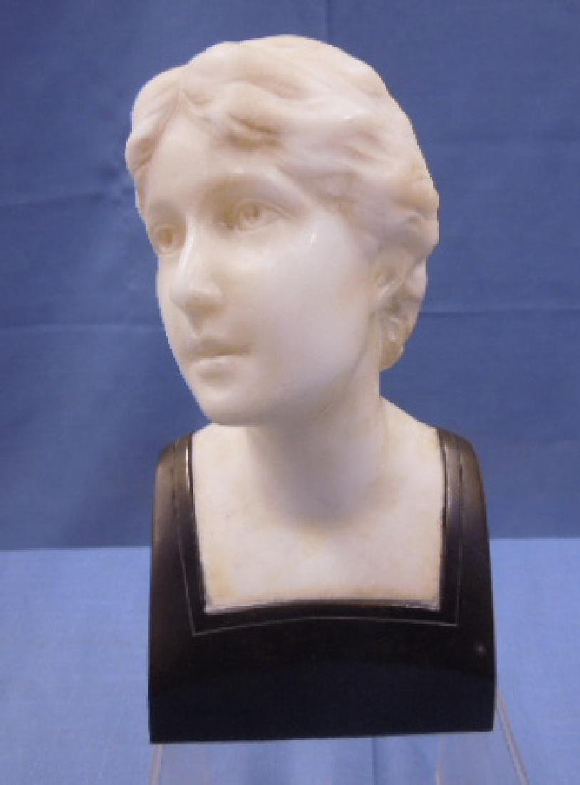 French Marble & Bronze Bust Sculpture