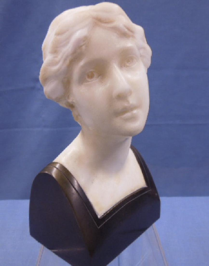 French Marble & Bronze Bust Sculpture - 2