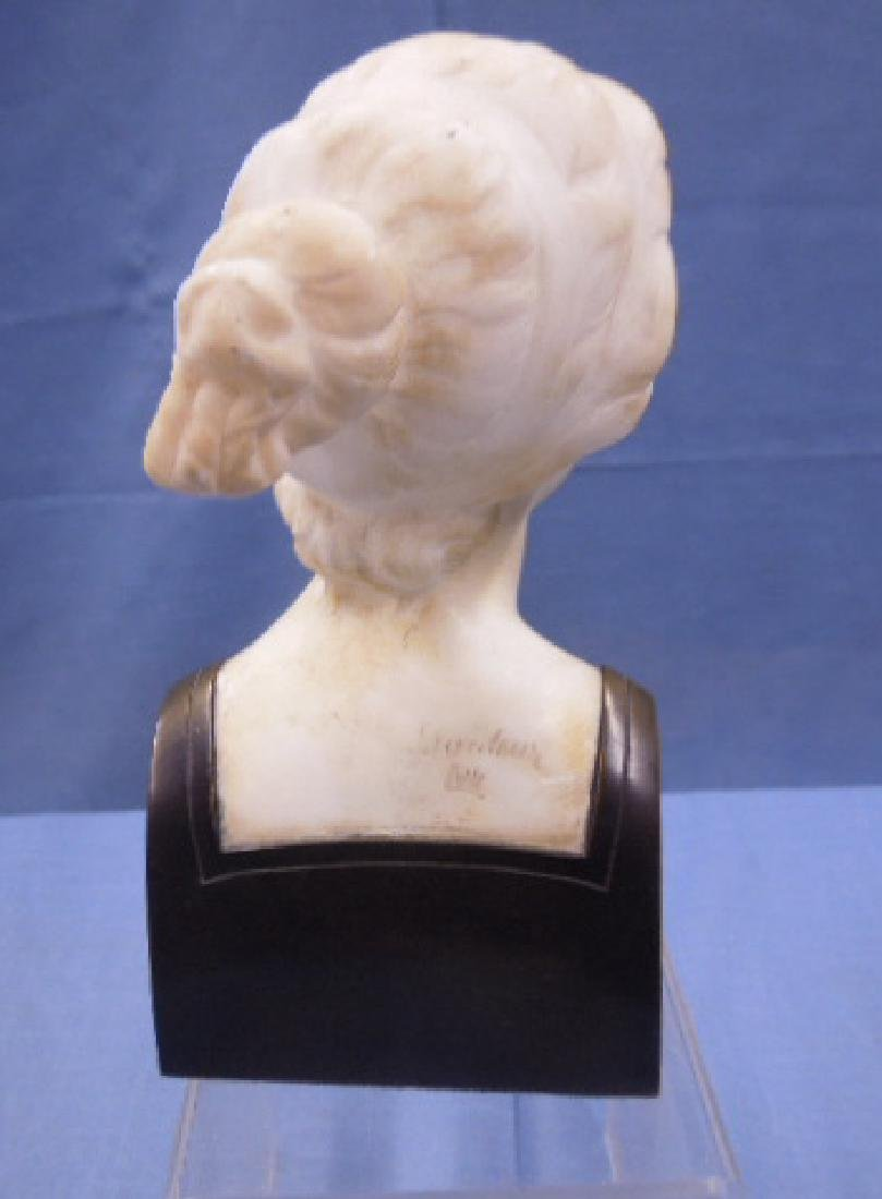 French Marble & Bronze Bust Sculpture - 3