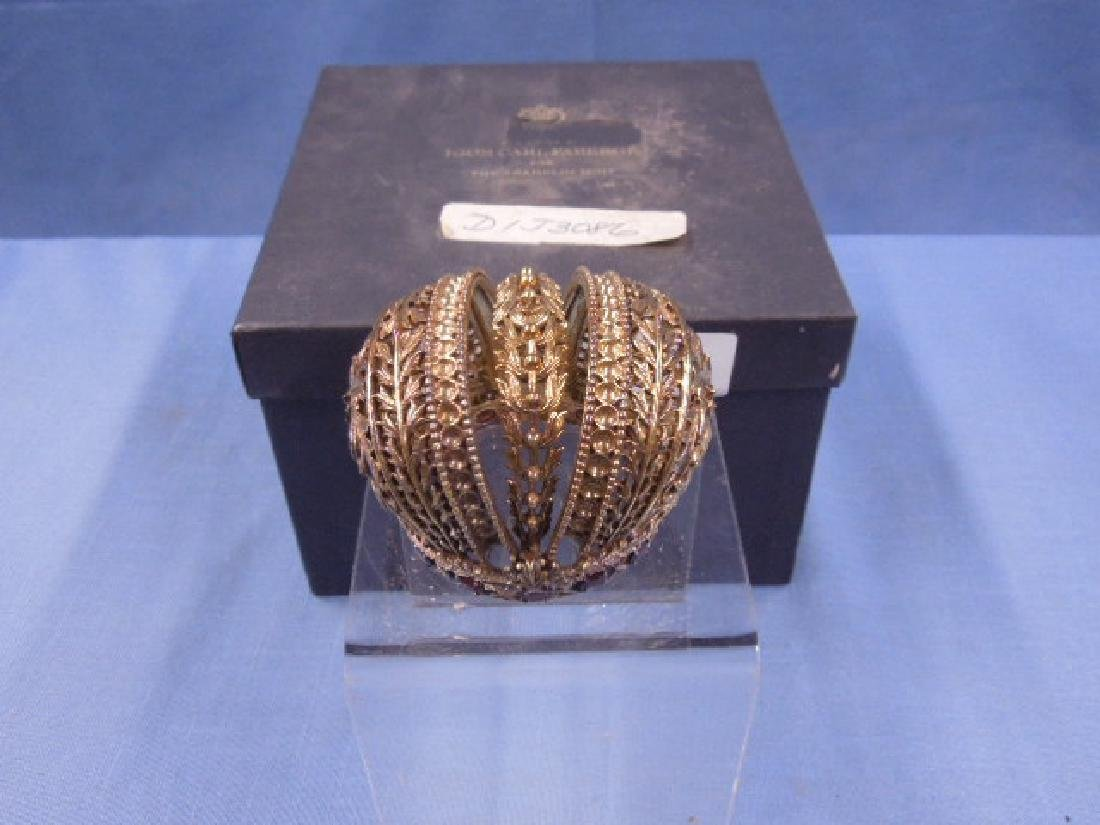 House of Faberge Sterling Silver Crown