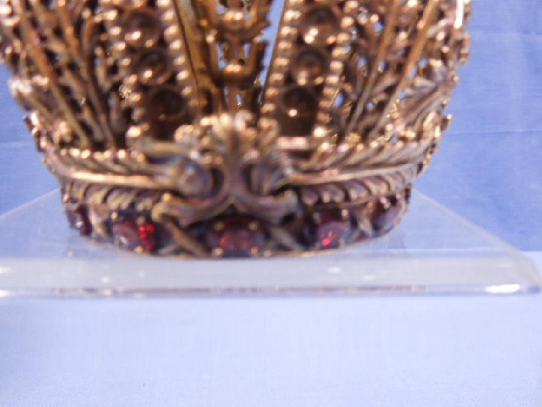 House of Faberge Sterling Silver Crown - 4