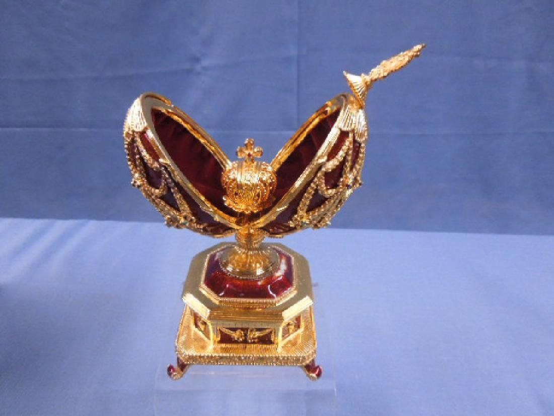 House of Faberge Imperial Eagle Egg - 5