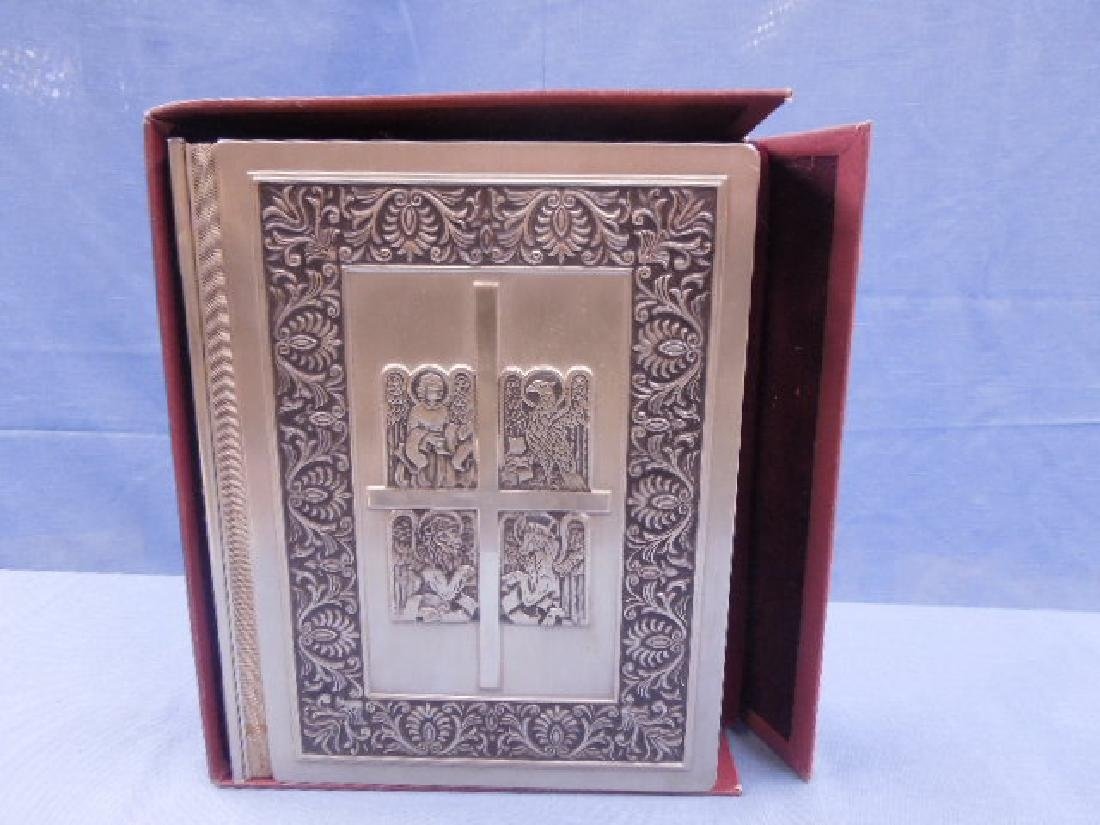 Franklin Mint Silver Family Bible - 7