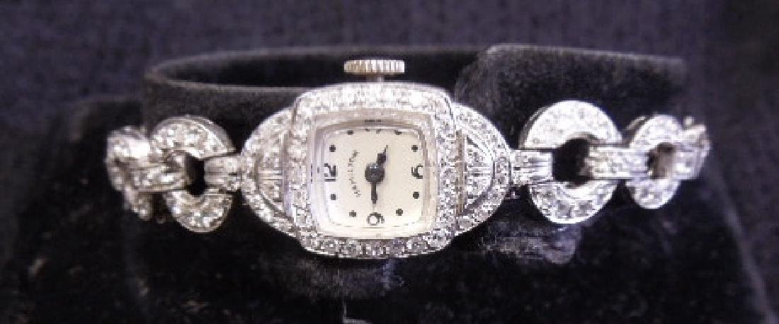 Platinum & Diamond Lady's Hamilton Watch