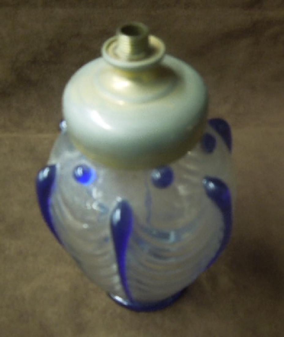 Val St. Lambert Art Glass Atomizer Lamp - 2