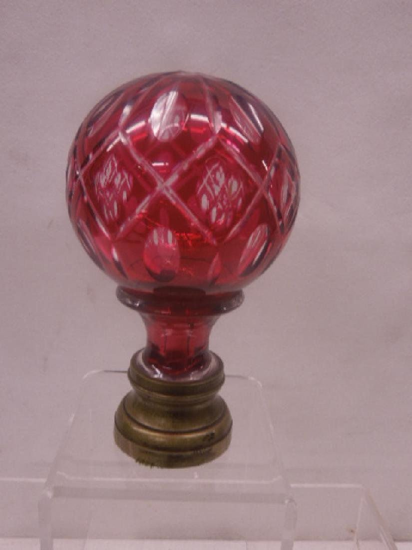 French Glass Newel Post Paperweight