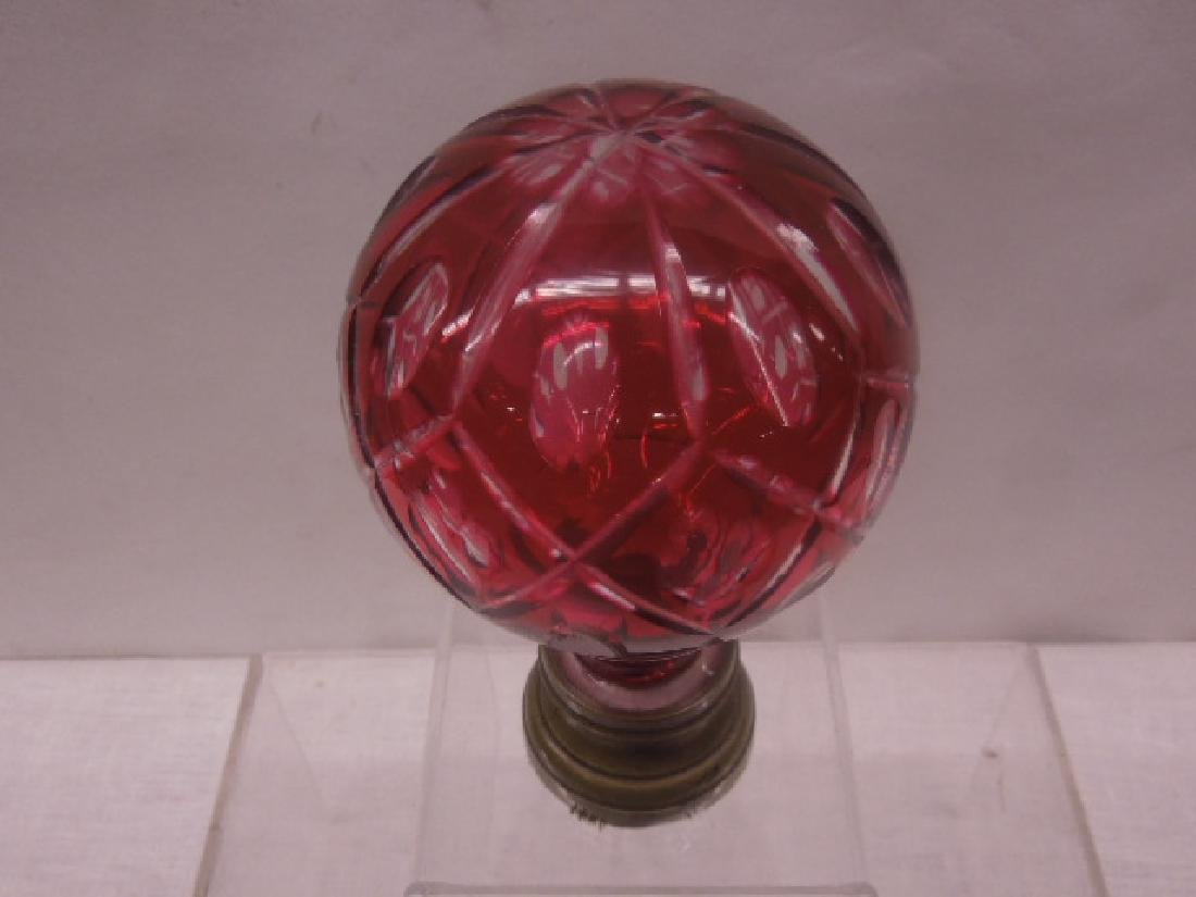 French Glass Newel Post Paperweight - 2