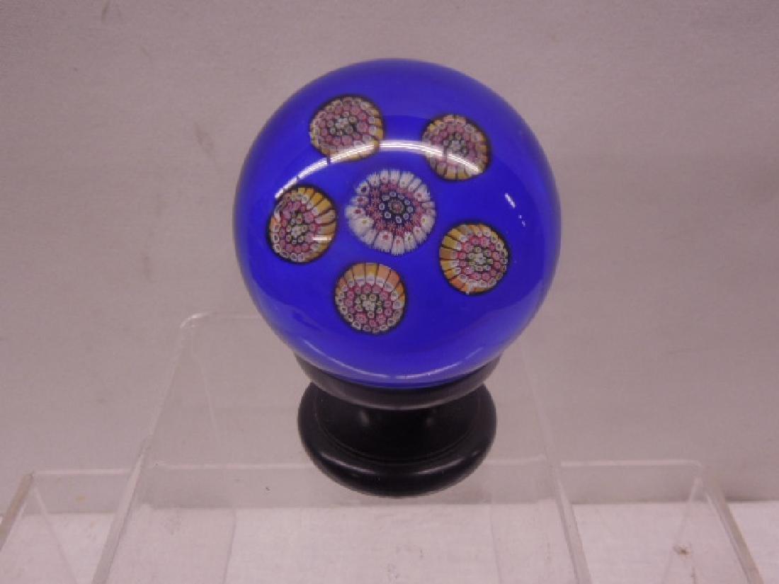 Unsigned Millefiori Glass Paperweight