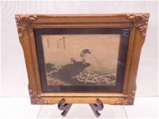 19th c Signed Japanese Woodblock Print