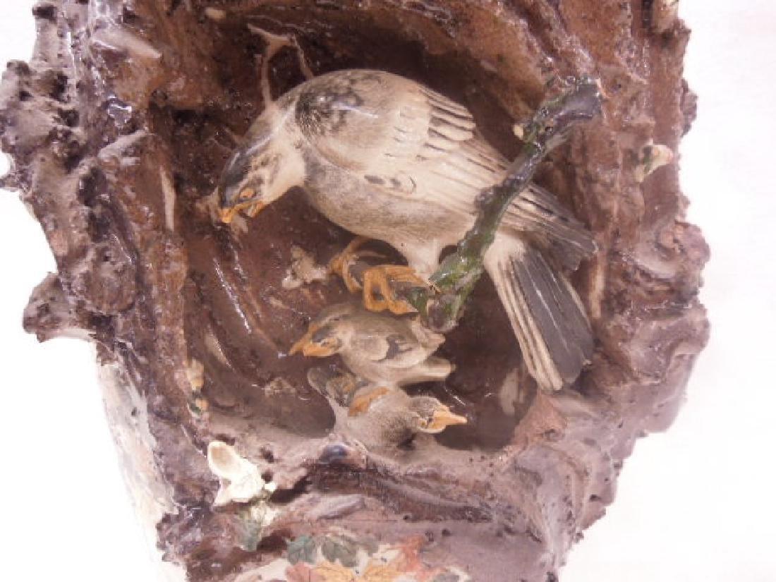 19th c. Satsuma Pottery Bird Vase - 2
