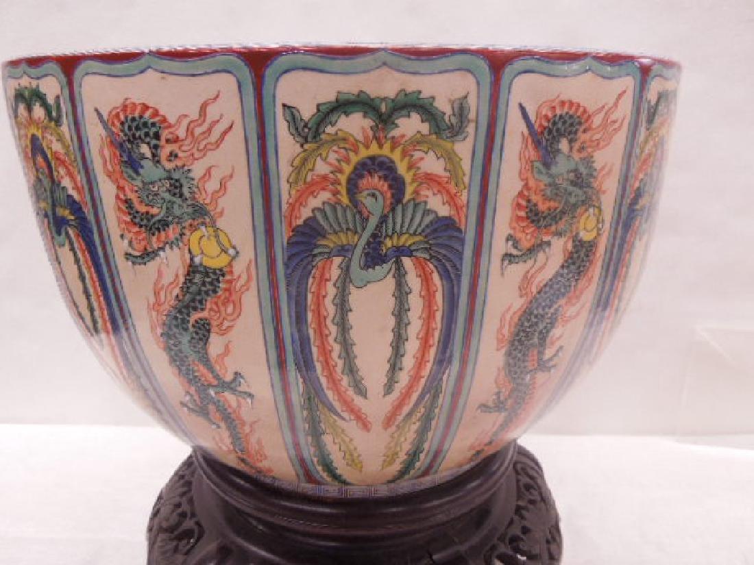 Antique Satsuma Pottery Fish Bowl - 2