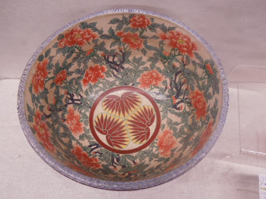 Antique Satsuma Pottery Fish Bowl - 4