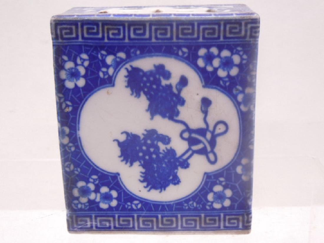 Chinese Blue & White Porcelain Opium Pillow
