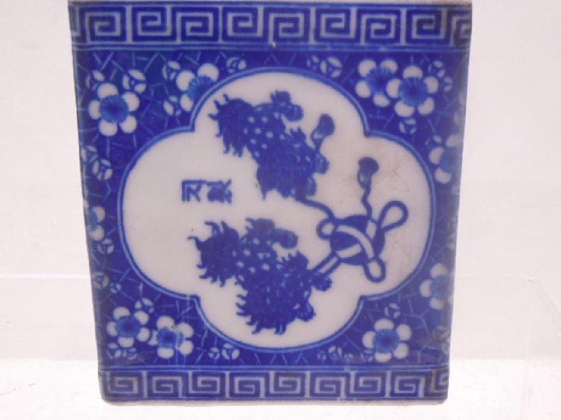 Chinese Blue & White Porcelain Opium Pillow - 4