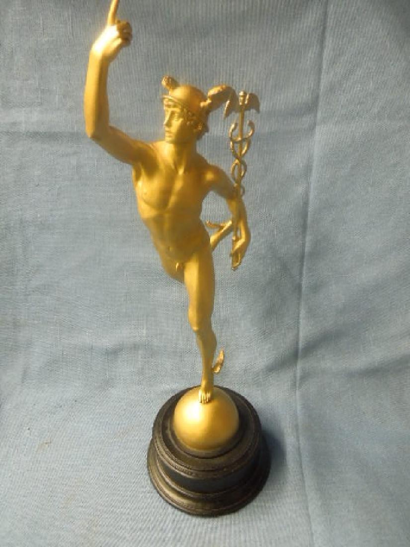 Contemporary Gilt Metal Mercury Statue