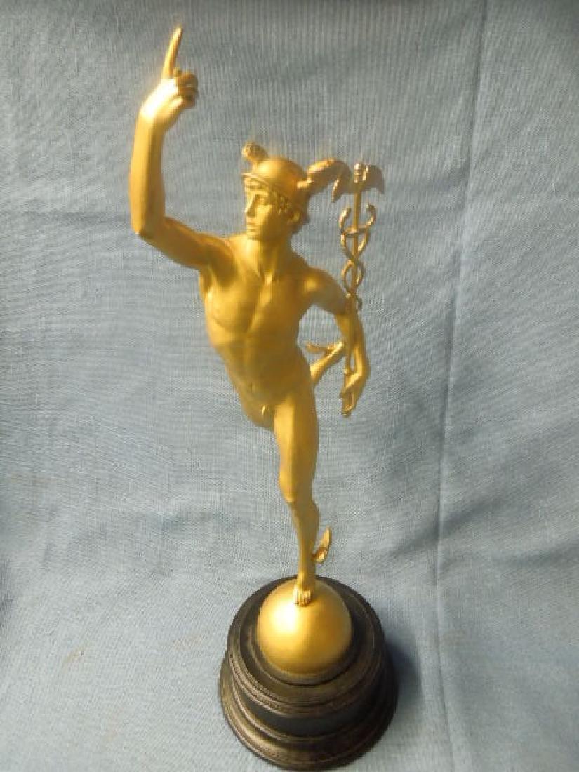 Contemporary Gilt Metal Mercury Statue - 2