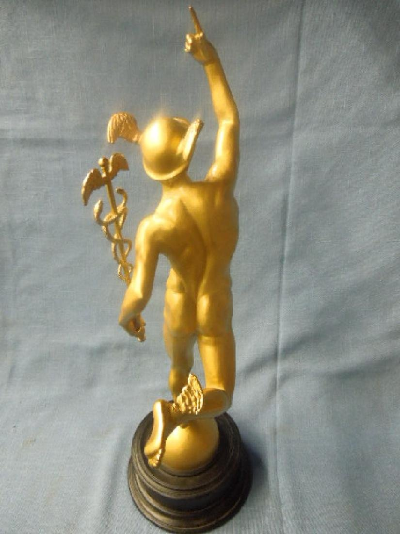 Contemporary Gilt Metal Mercury Statue - 4