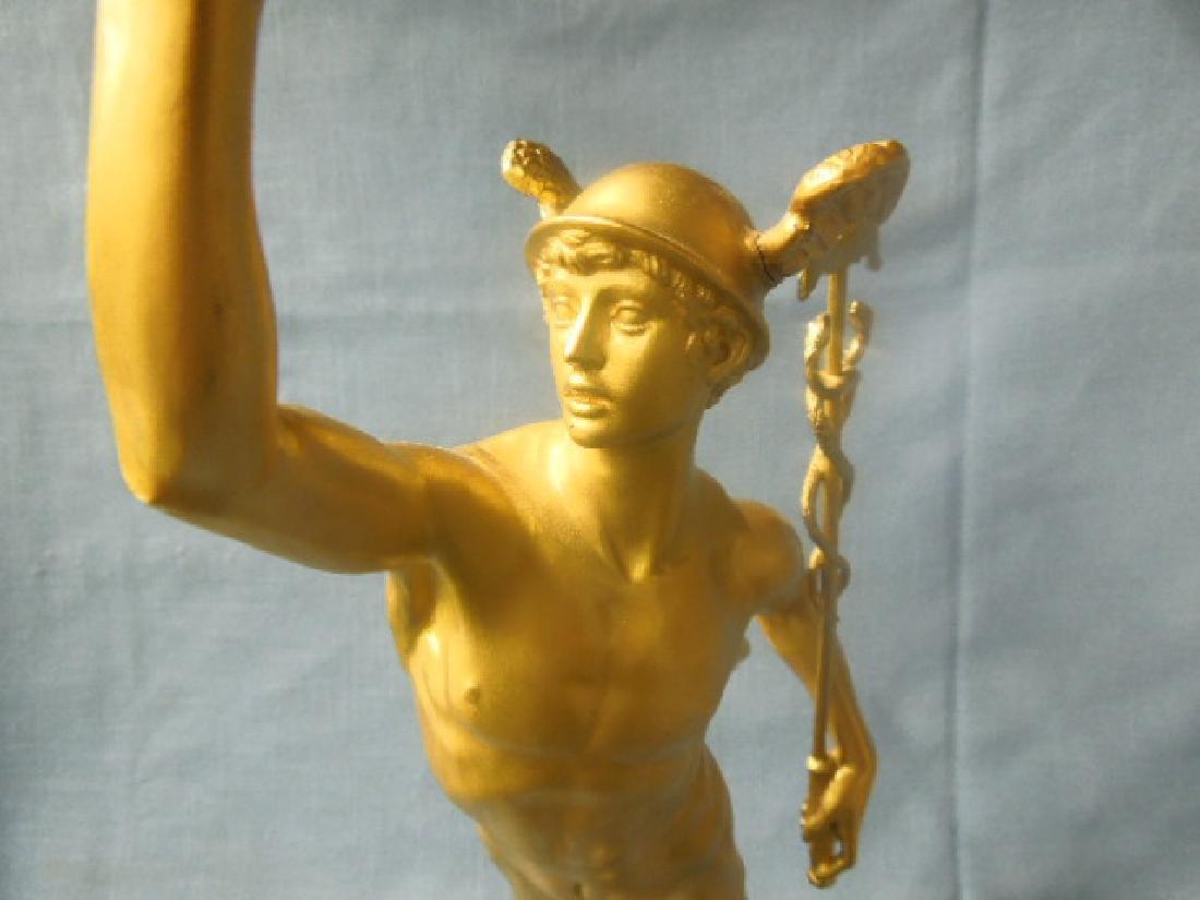 Contemporary Gilt Metal Mercury Statue - 6