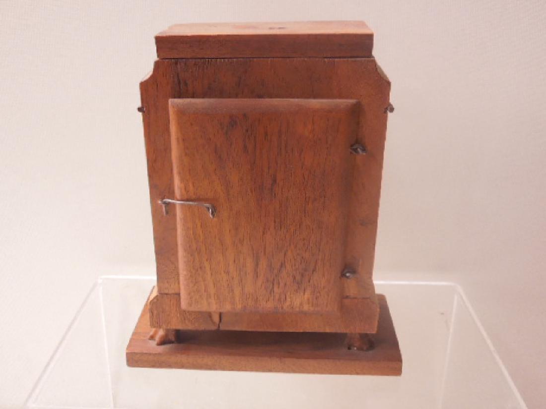 Continental Olive Wood Shelf Clock - 5