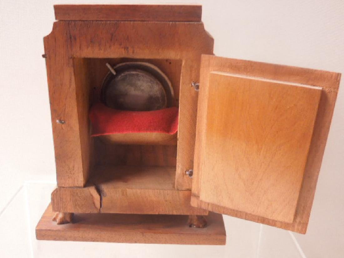 Continental Olive Wood Shelf Clock - 6