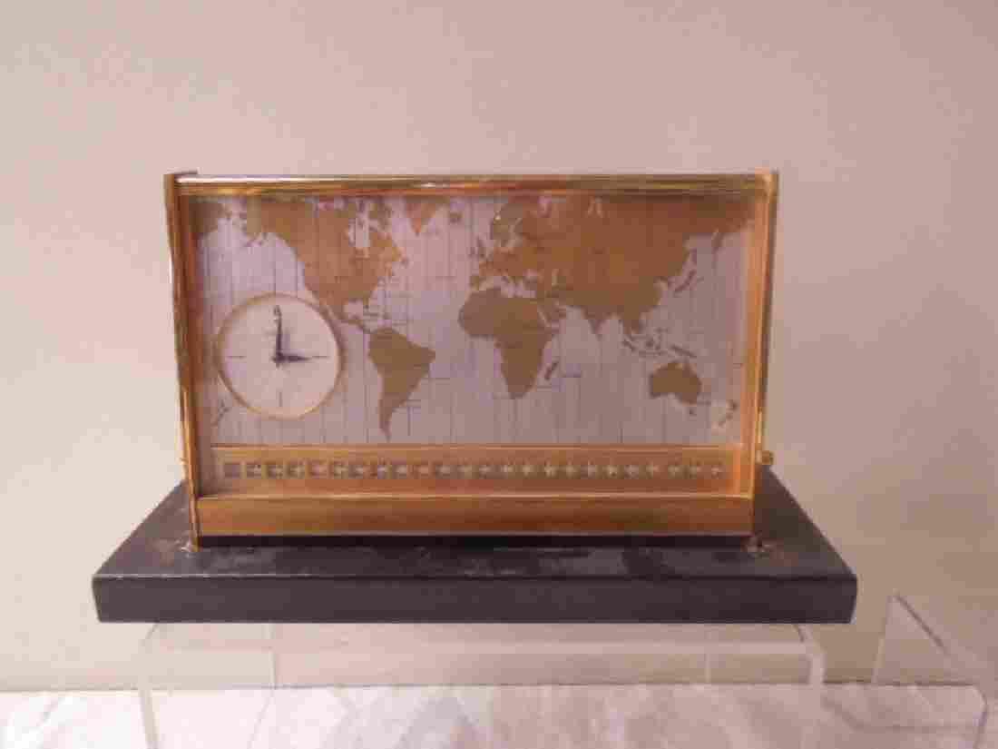 1960's Angelus World Time Desk Clock
