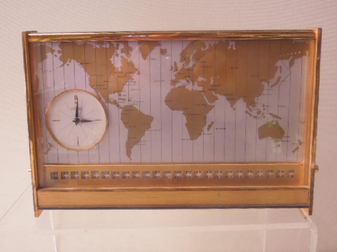 1960's Angelus World Time Desk Clock - 2