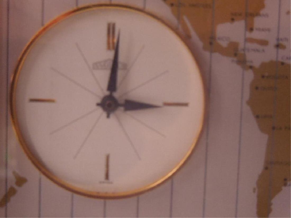 1960's Angelus World Time Desk Clock - 3