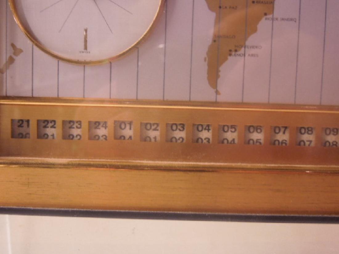 1960's Angelus World Time Desk Clock - 5