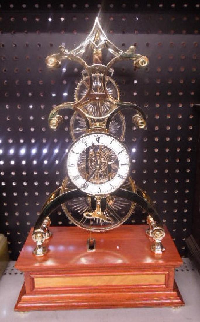 Franklin Mint Crystal Palace Skeleton Clock
