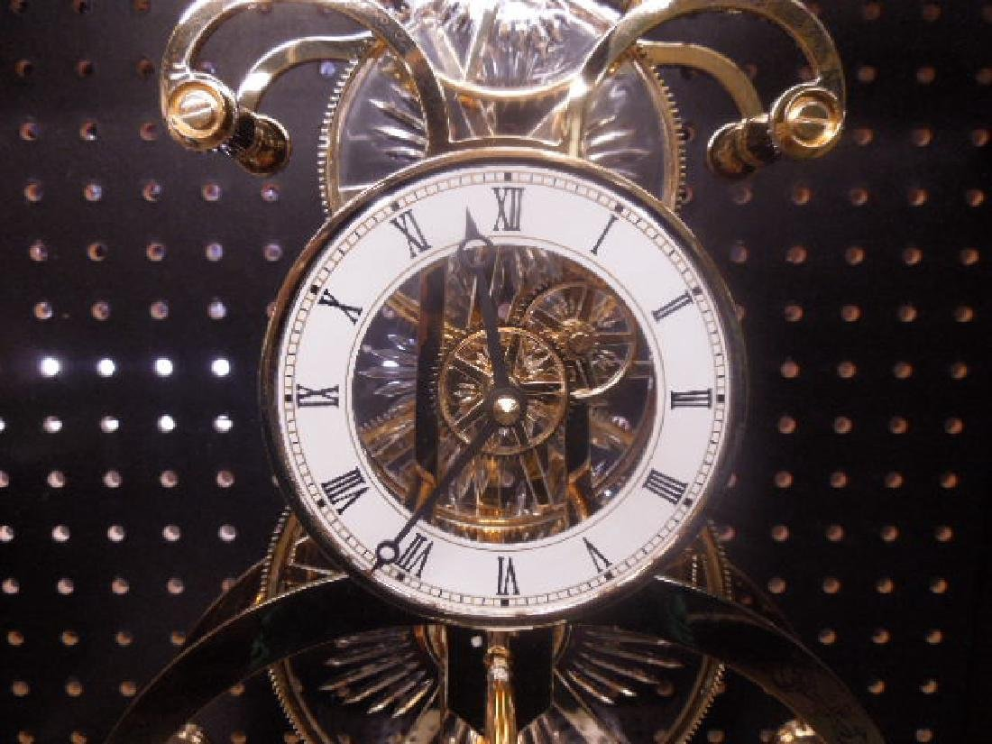 Franklin Mint Crystal Palace Skeleton Clock - 2