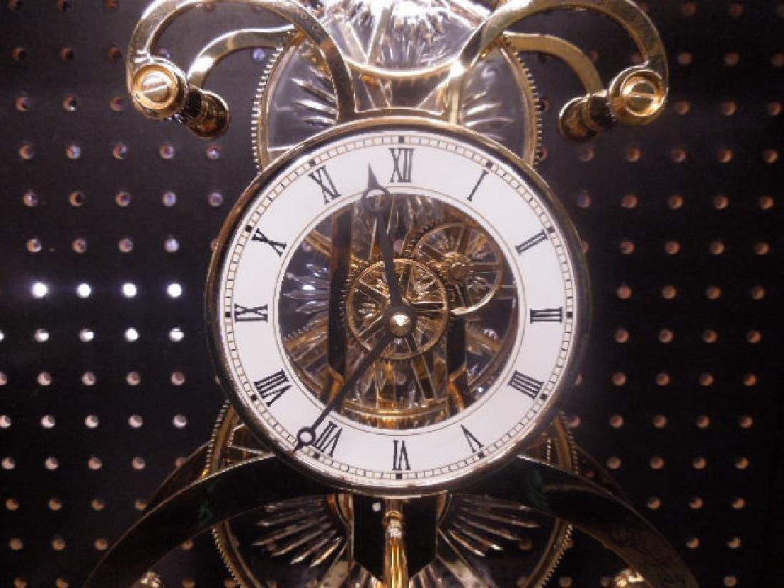 Franklin Mint Crystal Palace Skeleton Clock - 2
