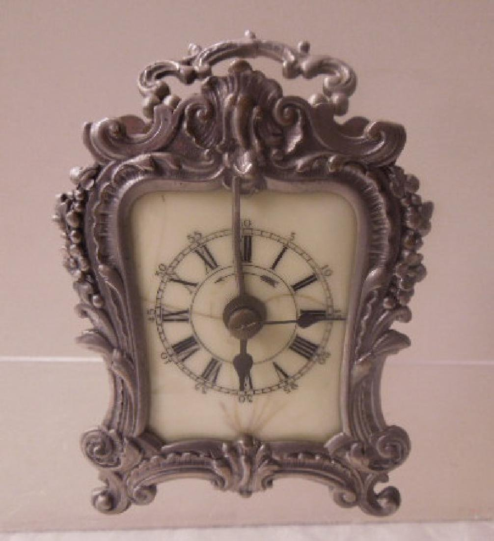 19th c. French Metal Carriage Clock