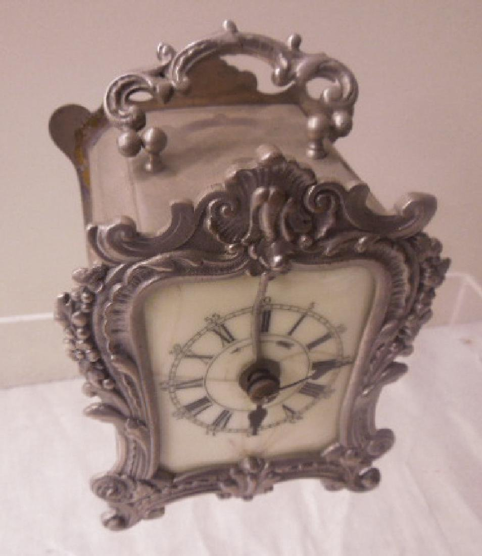 19th c. French Metal Carriage Clock - 2