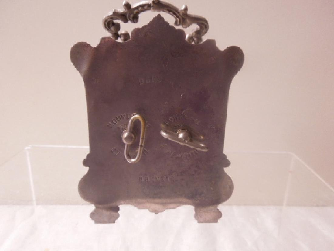 19th c. French Metal Carriage Clock - 4
