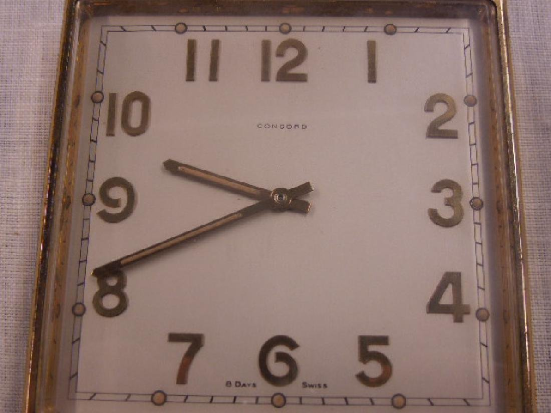 1960's Concord Double Sided Desk Clock - 4