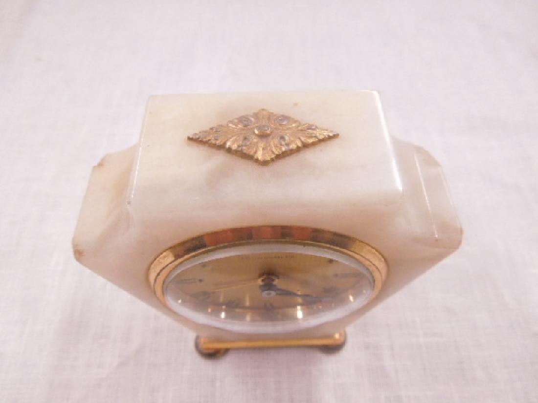 Swiss Onyx & Brass Travel Alarm Clock - 2