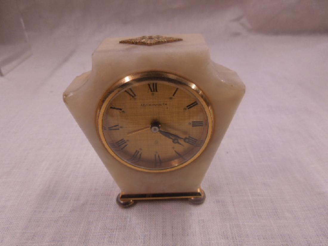 Swiss Onyx & Brass Travel Alarm Clock - 3