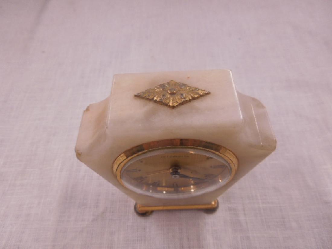 Swiss Onyx & Brass Travel Alarm Clock - 4