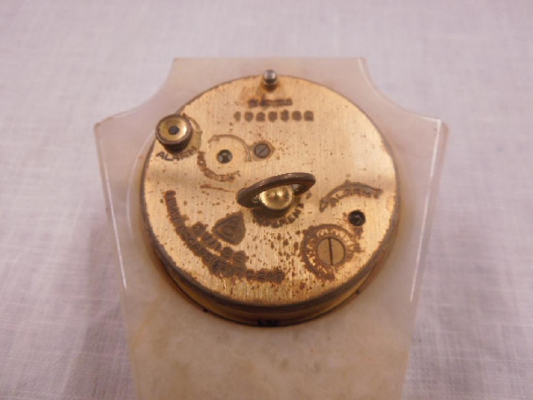 Swiss Onyx & Brass Travel Alarm Clock - 6