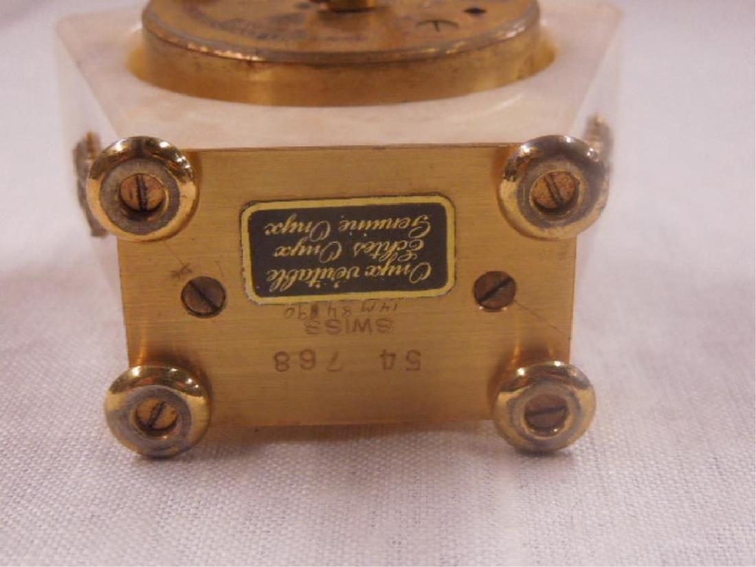 Swiss Onyx & Brass Travel Alarm Clock - 7