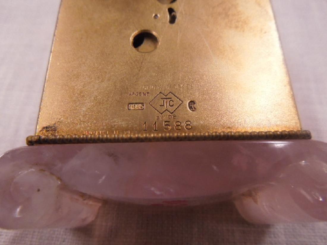 Swiss Silver & Enamel Miniature Clock - 3