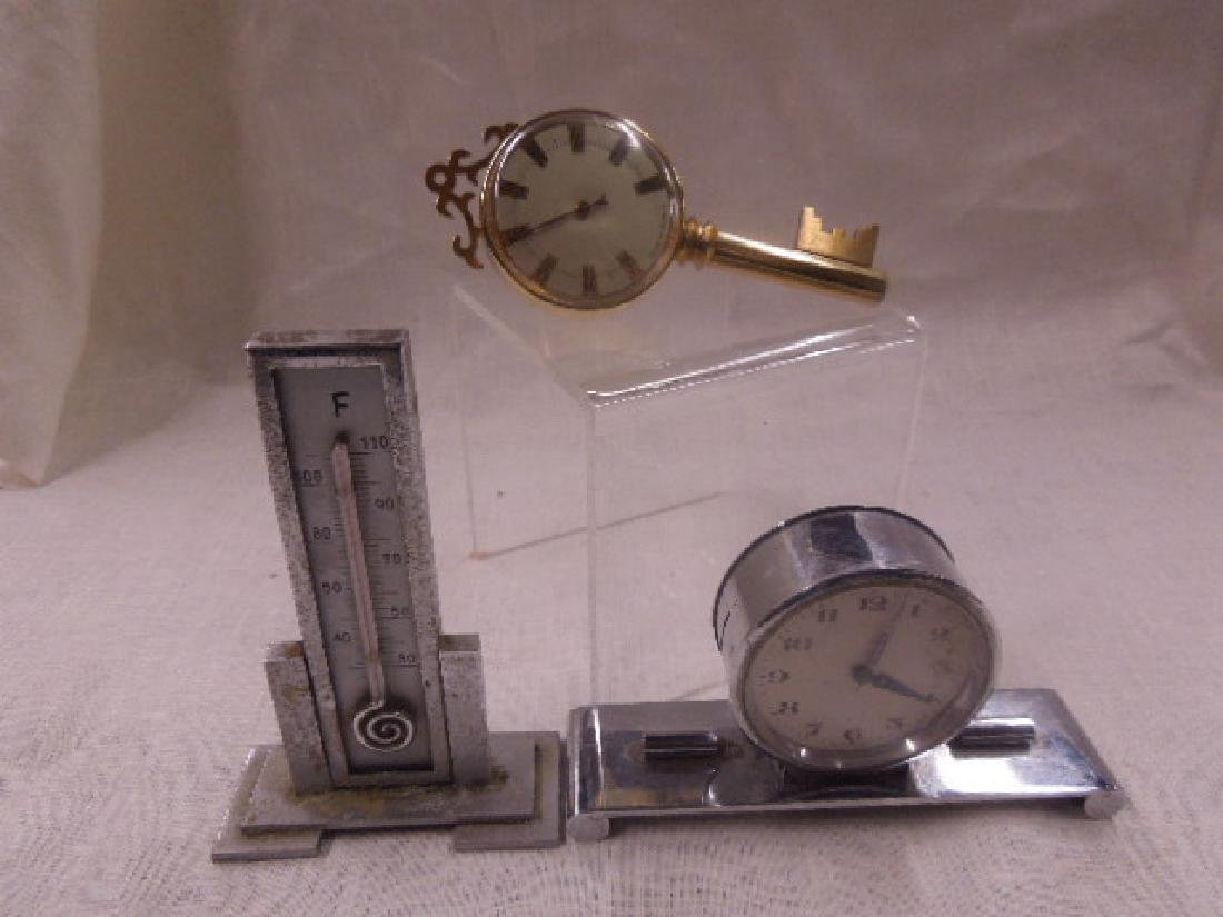 Vintage Thermometers & Desk Clock
