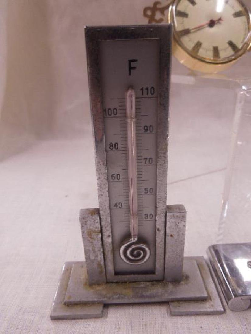 Vintage Thermometers & Desk Clock - 3